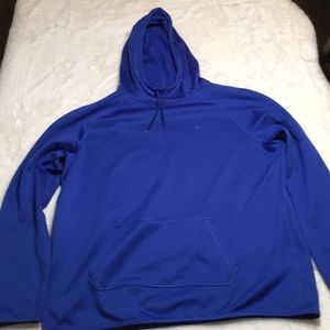 Nike Therma-Fit blue hoodie size XL